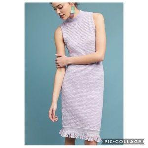 Anthropologie Lavender Acadia Sweater Dress Sz S